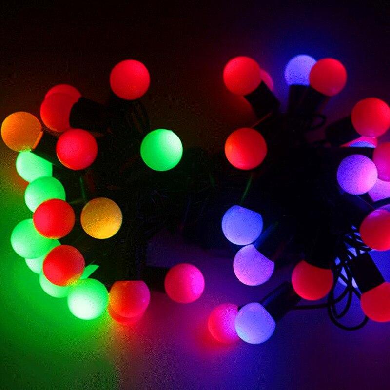 7 m luci Leggiadramente Di Natale luci della stringa LED luci palla Ghirlanda di natale vacanza di capodanno luce di nozze decorazione luce della stanza catena