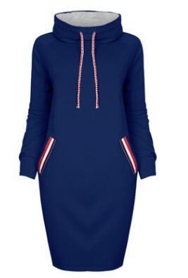 Fashion women hooded solid pencil dress autumn slim bodycon casual hoodies dresses female spring vestidos