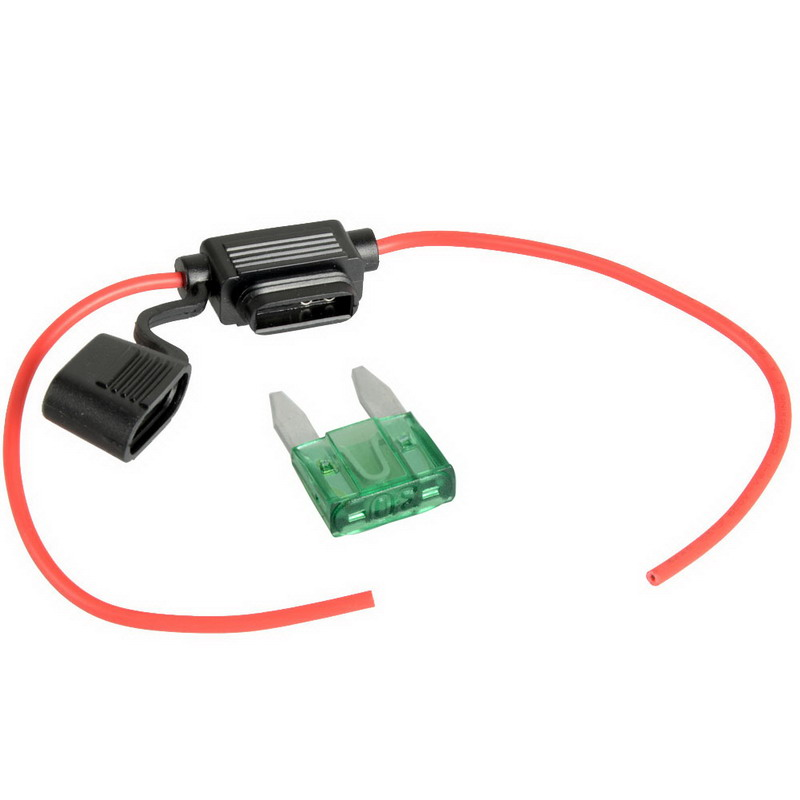 1Pc Hot Selling In-Line Car Mini Blade Fuse Holder Waterproof 16AWG 30A 12V/24V/32V DC VE109 P0.11