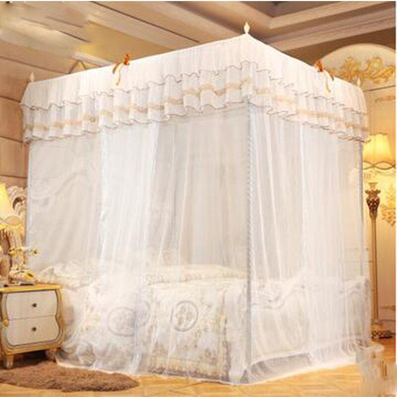 Moustiquaire trois portes double tente anti-moustiques compte de cryptage rideau de lit palace princesse vent lit tente