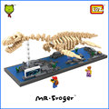 Mr. froger loz bloques diamond plesiosaurio juguete para niños dinosaurio fósil skull plesiosauro modelos de ladrillos de juguete de plástico clásico