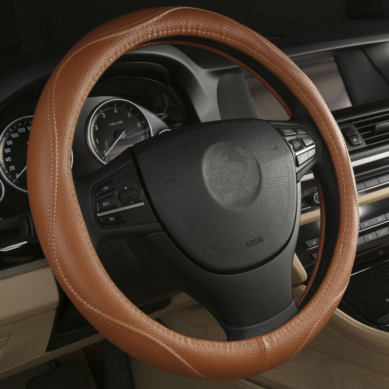 Black Beige Brown Gray car steering wheel cover for Audi A1 A3 A4 A5 A6 A7 A8 A4L A6L TT R8 Q2 Q3 Q5 Q7 S3 S4 Auto Accessories brand new car dashboard cover for audi tt dash cover mat right hand driver