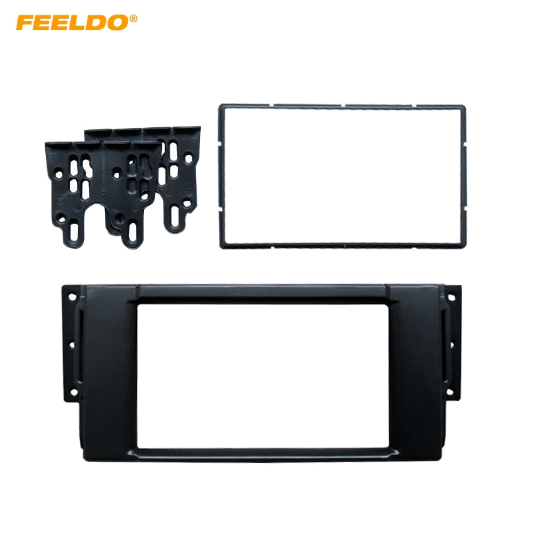 FEELDO 2DIN Car CD/DVD Radio Fascia Plate Panel Frame for Land Rover Range Rover/Freelander/Discovery Panel Dashboard Mount Kit our discovery island 4 dvd