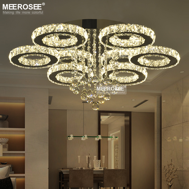 Hot Sale LED Crystal Ceiling Light Fixture Ring K9 Crystal