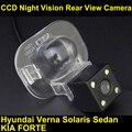 Retrovisor do carro da câmera para Hyundai Verna Solaris Sedan CCD da câmera do carro para KIA FORTE visão noturna à prova d' água