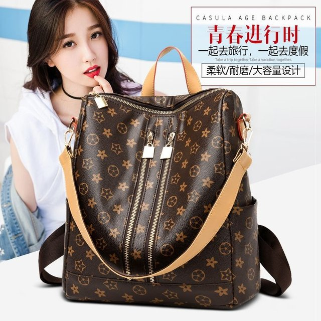 New European and American popular classic explosive double-purpose shoulder backpack women's bags  leisure bags wholesale
