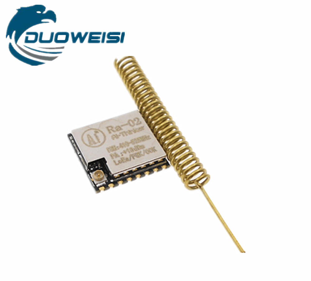SX1278 LoRa Spread Spectrum Wireless Module / 433MHz Wireless Serial Interface / SPI Interface / Ra-02 nrf24le1 wireless data transmission modules with wireless serial interface module dedicated test plate