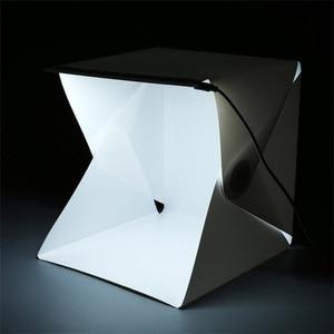 Image 4 - صندوق إضاءة صغير محمول قابل للطي استوديو التصوير الفوتوغرافي صندوق لين LED صور صندوق لينة آيفون DSLR كاميرا صور خلفية