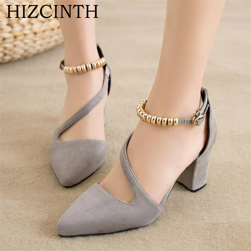 a7979d3cd59 Aliexpress.com   Buy HIZCINTH 2018Spring Women s Shoes Elegant Side Hollow  Out Single Shoes Woman Pointed Toe High heeled Sandals Pumps Zapatos Mujer  from ...