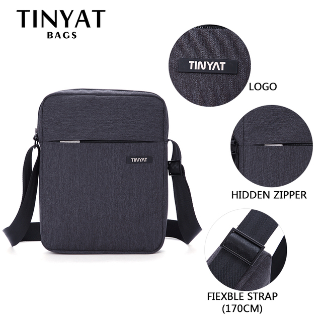 Men's Crossbody Bag Pack Multifunctional Men Bag Male Shoulder Messenger Bags Canvas Leather Shoulder Handbag 2