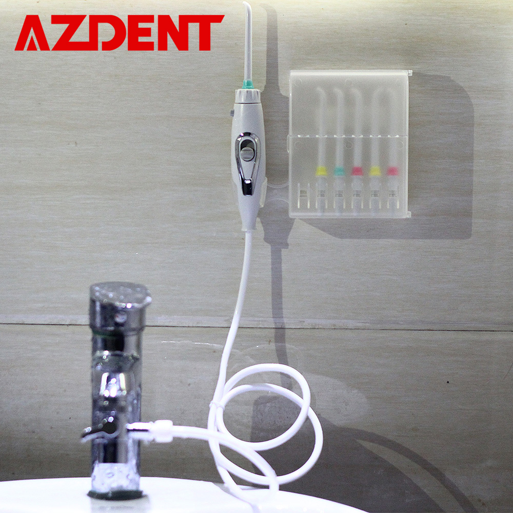 6 Tips Faucet Oral Irrigator Switch Water Dental Flosser Portable Water Jet Irrigator Floss Implement Irrigation Tooth Cleaner