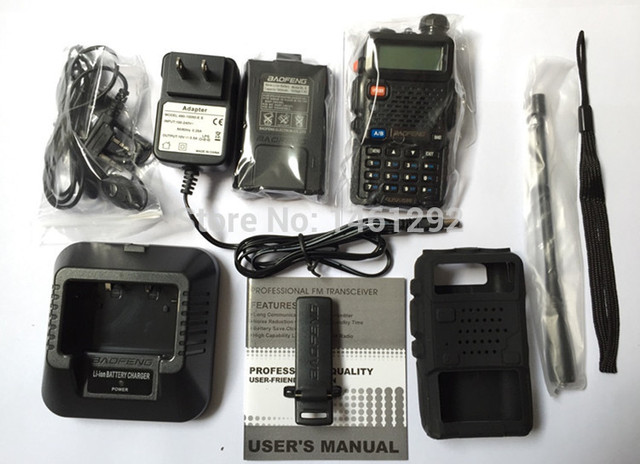 2016 New BaoFeng UV-5R Walkie Talkie +Silicon Case(US UK AU CA FR RU IL SA UA ePacket free shipping)