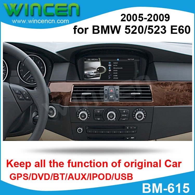 "Cheap 6.5"" Car DVD GPS Player for BMW 520/523 E60 2005-2009 with GPS BT USB SD IPOD Keep original Screen and  functions of car!!! 0"