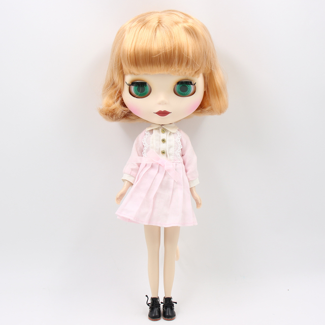 TBL Neo Blythe Doll Normal Body Short Golden Hair
