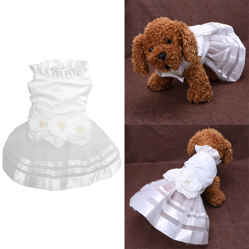 Clothes for dogs Princess Pet Dog Wedding Dress Puppy Skirt Clothes Tutu Skirt Bride Costume