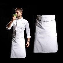 Новое поступление высокое качество длинная талия галстук закрытие водонепроницаемый ресторанный фартук шеф-повара фартук