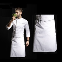 2019 New arrival high quality long waist tie closure waterproof restaurant apron chef apron