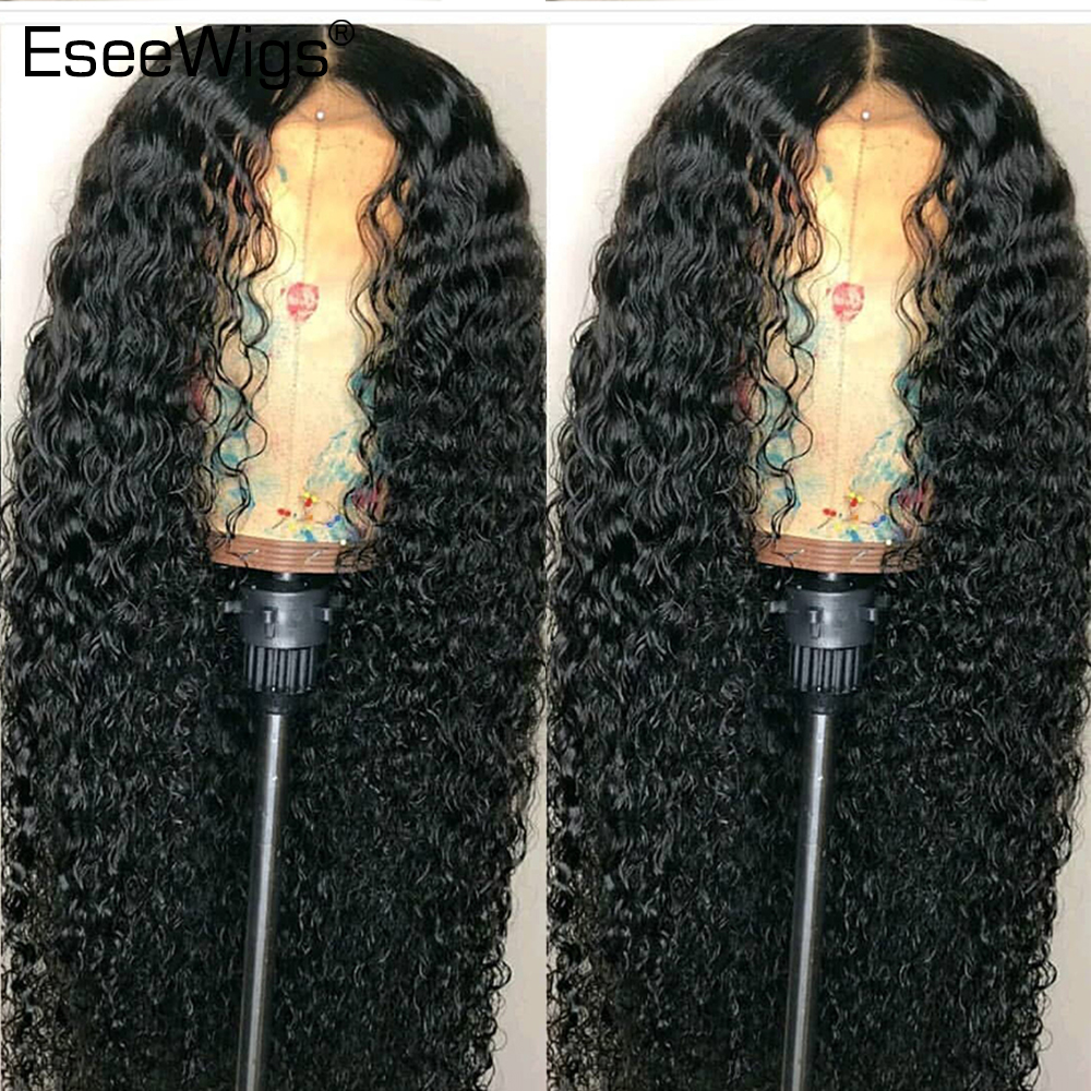 Eseewigs Curly Lace Front Wig Human Hair For Black Women Brazilian Remy Hair Glueless Lace With Baby Hair Pre Plucked
