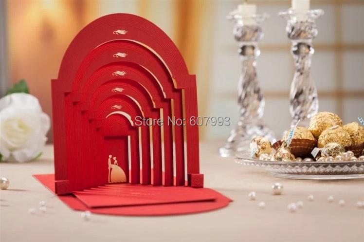 Aliexpress Buy Creative 3D bronzing bridegroom wedding – Creative Party Invitation