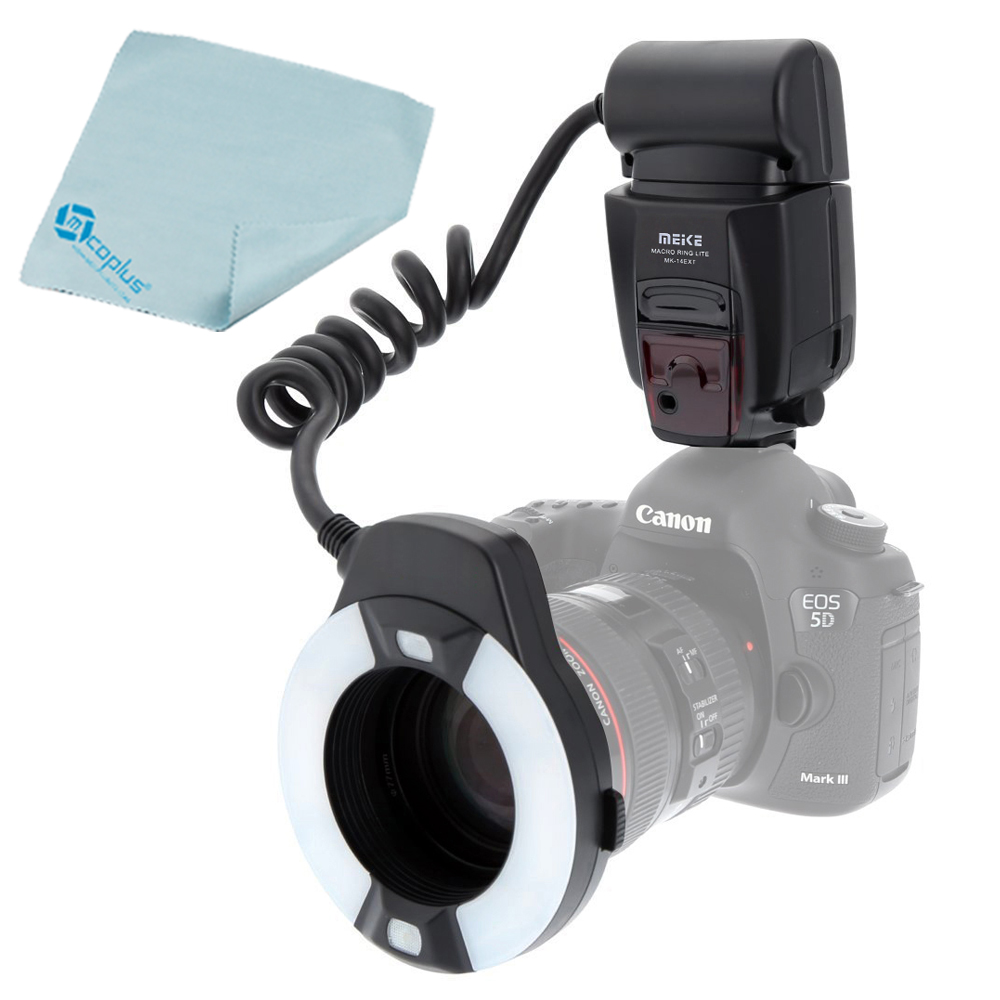 Meike MK 14EXTC Macro TTL Ring Flash E TTL with LED AF Assist Lamp for Canon