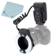 Майке mk-14extc макро TTL кольцевой вспышки E-TTL со светодиодной подсветкой фокуса для Canon 700D 650D 600D 550D 500D 450D 7D 6D 5D Mark II III