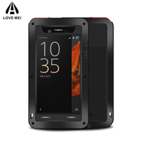 LOVE MEI Brand Metal Aluminum Case For Sony Xperia XZ Powerful Shockproof Cover For Sony Xperia
