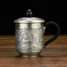 High grade 999Silver made Tea cup Kung Fu gift for family and friends kitchen office tea set