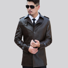 Selling Autumn Winter Casual Men's Leather Jackets And Coats Slim Faux Leather Jacket Men Suit Collar Locomotive Style Coats