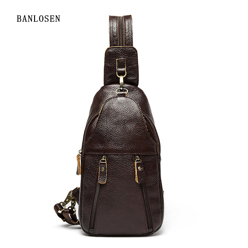 2016 New Brand Design Genuine Leather Small Backpacks Rucksack Shoulder Bag School Bag Men Women Backpack Chest Pack hot sale women s backpack the oil wax of cowhide leather backpack women casual gentlewoman small bags genuine leather school bag