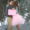Puffly 7 layer Priness Pink 50cm Tulle High Waisted Short Skirts Womens Adult Tutu