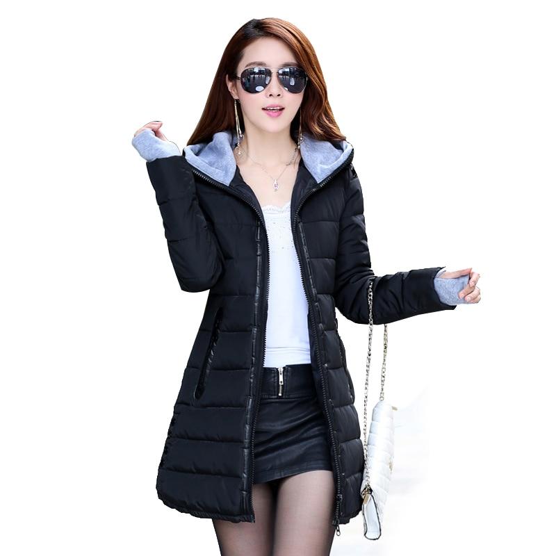 2018 Wadded Jacket Female New Women's Winter Jacket Cotton Jacket Slim Parkas Ladies Coat Plus Size M-XXXL CC276