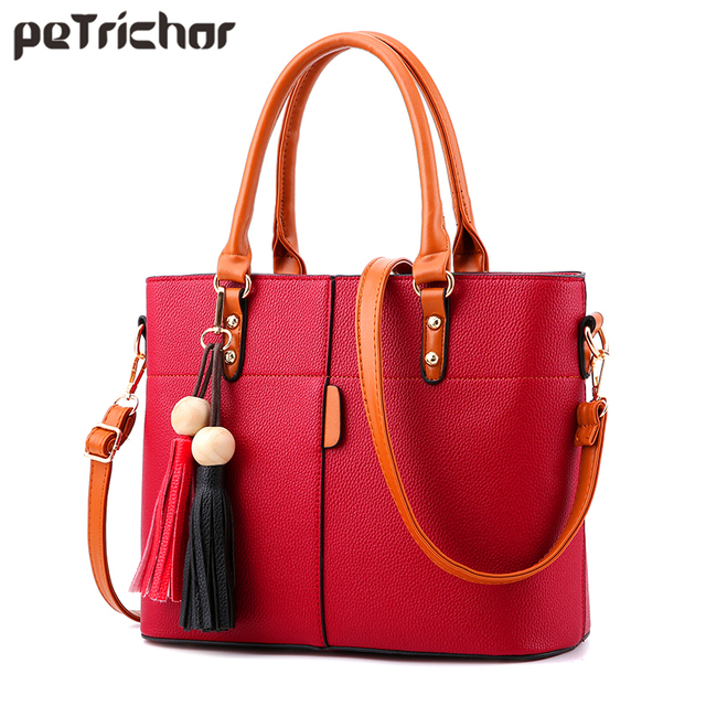Women Tote Bag Soft PU Leather Ladies Handbag Crossbody Messenger Bags Female Shoulder Bag 5