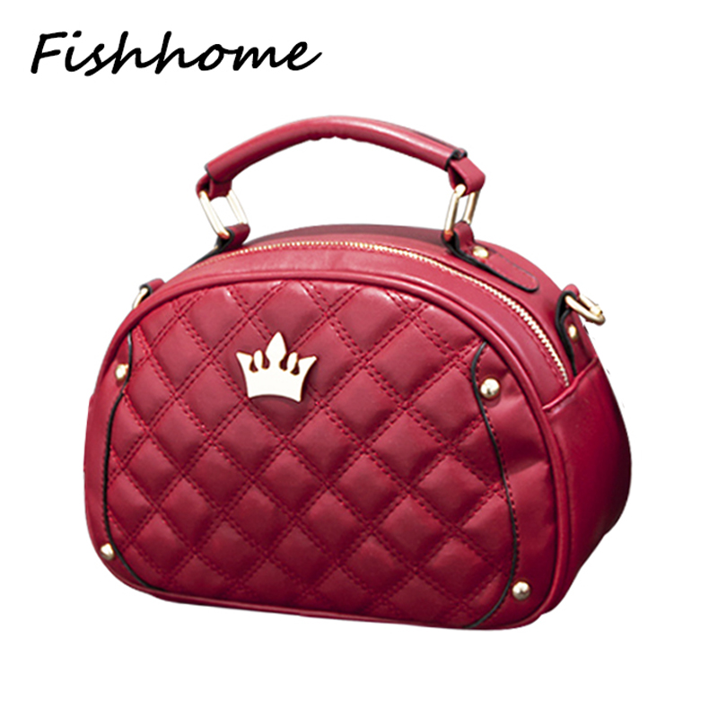2017 Famous Designer Brand Crown Women Handbag Ladies Shell Quilted Shoulder Tote Bags Women Messenger Bag Bolsa Feminina TLJ008