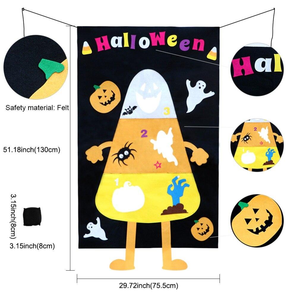 OurWarm Halloween Candy Corn Bean Bag Toss Game kids Party Supplies Felt Pumpkin Ghost Toss Indoor and Outdoor Party Game