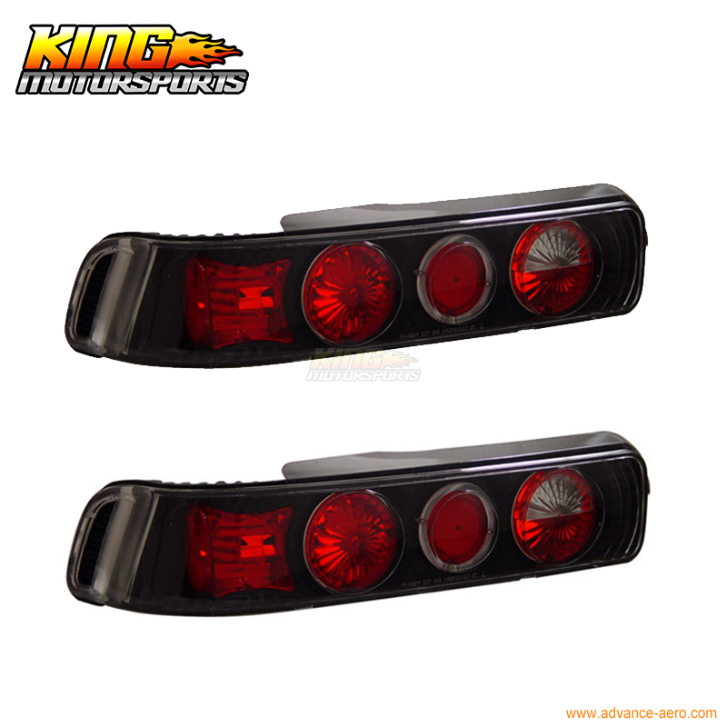 For 1990-1993 Acura Integra 2Dr 3Dr Tail Lights Halo Black USA Domestic Free Shipping