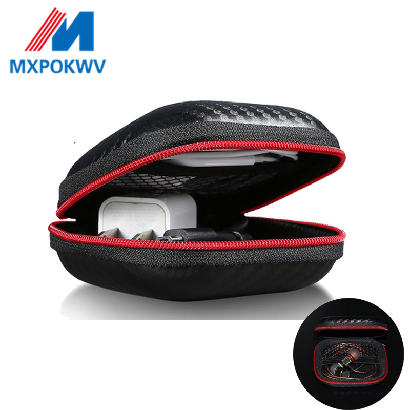Portable Mini Earphone Case Box Hard EVA Headphone Storage Bag For Airpods Earpod Earbud Wireless Bluetooth Earphone Accessories-in Earphone Accessories from Consumer Electronics