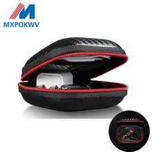 Tragbare Mini Kopfhörer Fall Box Fest EVA Kopfhörer Lagerung Tasche Für Earpod Ohrhörer Drahtlose Bluetooth Kopfhörer Zubehör