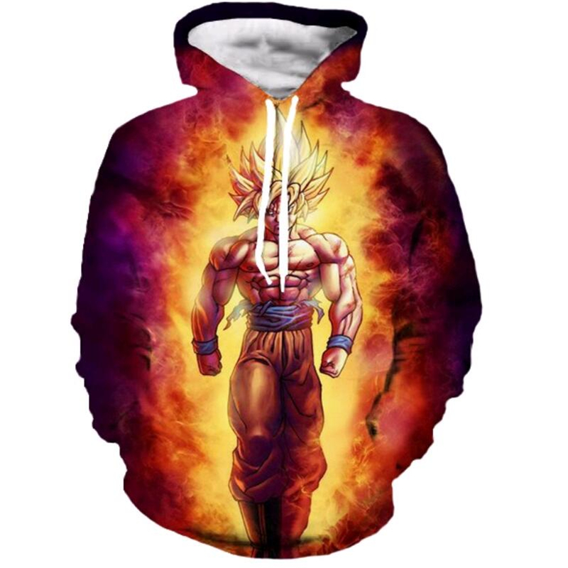Classic Anime Dragon Ball Z Strong Wukong Hooded Sweatshirts Men Women fashion Loose Hoodies Goku/Vegeta Print 3D Pullovers