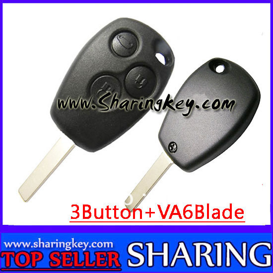 Free Shipping (5pcs/Lot )3 Button Remote Key Round Button With Pcf7947 Chip