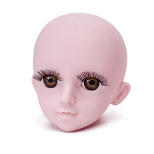 1/3 DIY Naked Makeup Bald Head Doll Accessories for 60cm Dolls Nude 3D Eyes Toys Girls Gifts