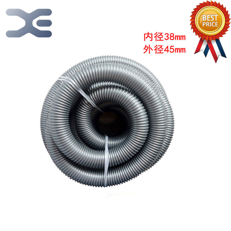 High Quality General Industrial Vacuum Cleaner Accessories Hose Threaded Pipe Diameter 38mm Diameter 45mm Vacuum Tube industrial vacuum cleaner parts black pipe eva hose 38mm 45mm genenal hose