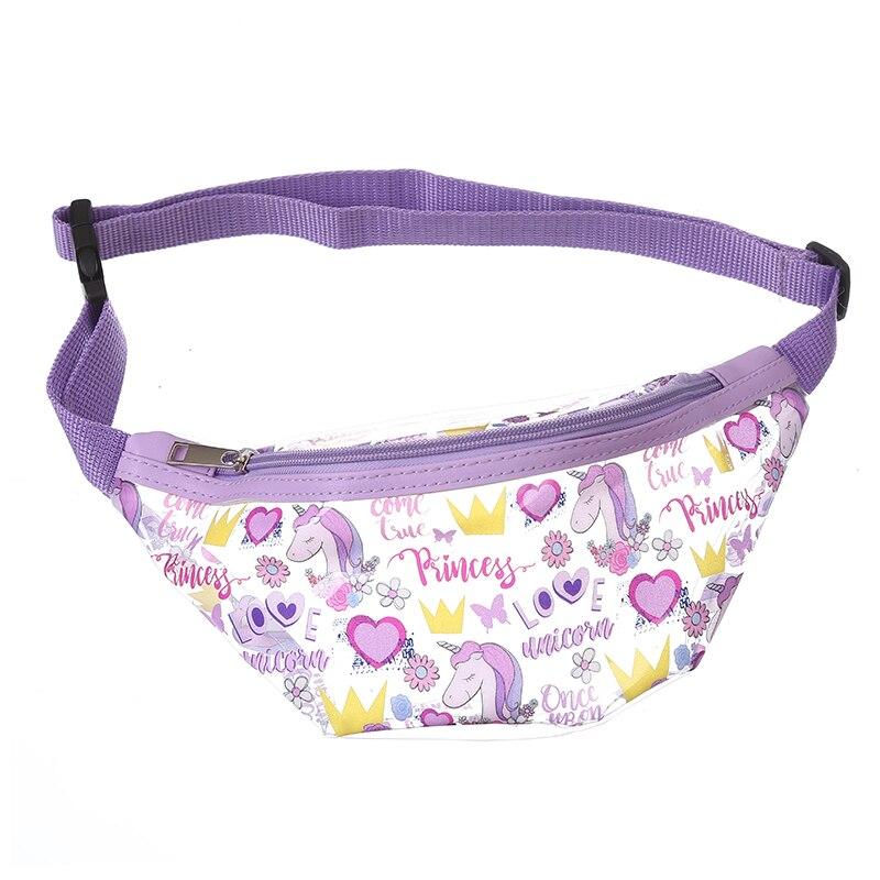 Women PVC Cartoon Waterproof Waist Pack Children Unicorn Transparent Fanny Pack Girl Summer Beach Phone Chest Bag For Travel