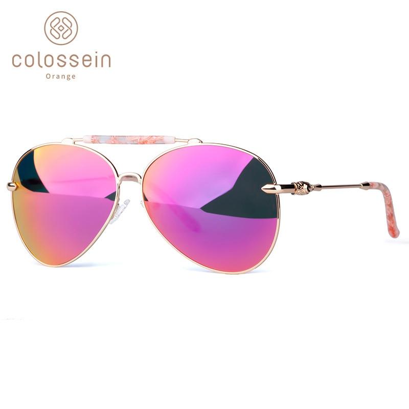 COLOSSEIN lielgabarīta saulesbrilles sievietēm Vintage ovāla - Apģērba piederumi