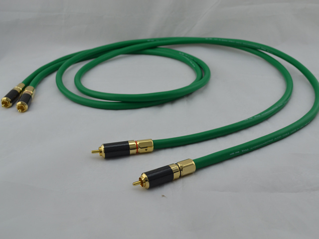 2328 Audio Cable RCA interconnect cable Analog Audio Interconnect with Carbon RCA Connector цена