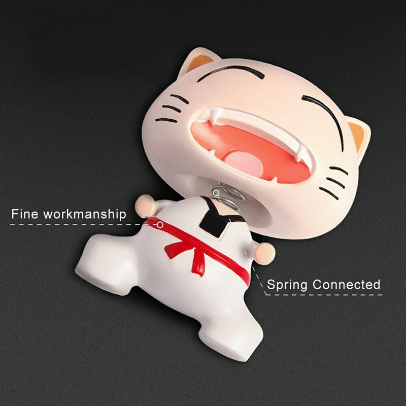 Image 5 - Cute Taekwondo Cat Shaking Head Car Ornaments Lovely Decoration Automobiles Interior Dashboard Nodding Toys Doll Car Accessories-in Ornaments from Automobiles & Motorcycles