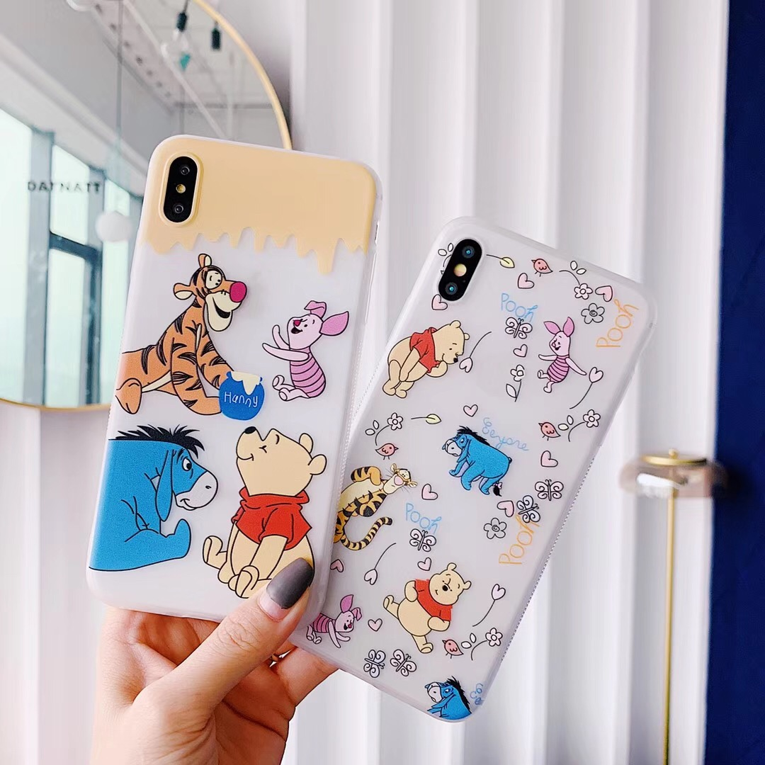 2pcs 1 Pair Disney/'s Winnie the Pooh Piglet Metal Enamel Stud Earrings