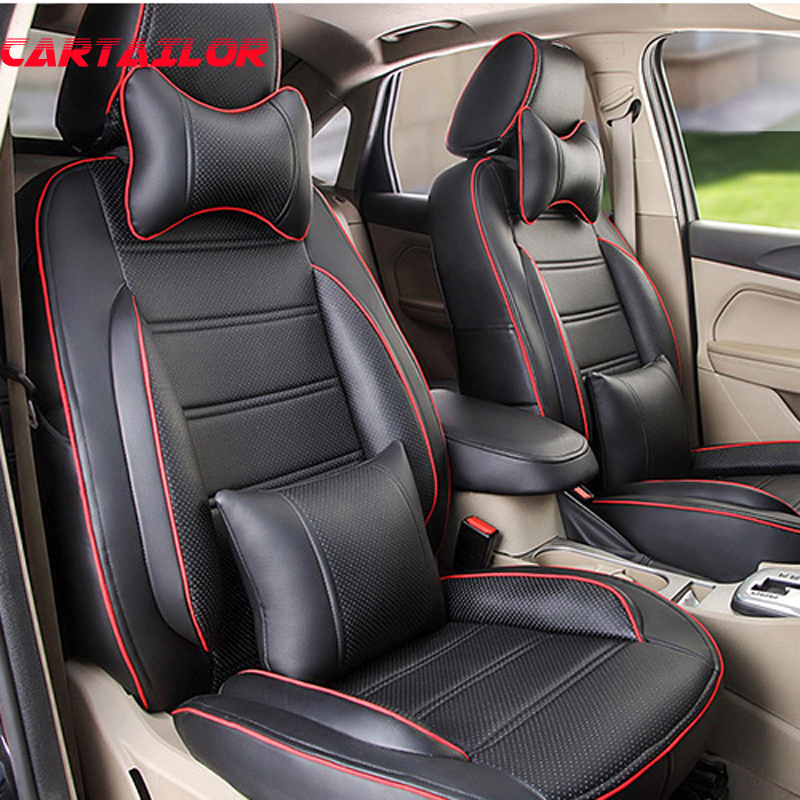 Us 319 8 48 Off Cartailor Car Seat For Bmw 3 Series Seat Covers Accessories Front Rear Pu Leather Car Seat Cover Protector Auto Supports Set In