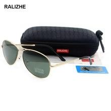 RALIZHE 2019 Brand HD Polarized Sunglasses Vintage Mens Womens Big Metal Pilot Aviation Sun Glasses Fashion Driving Anit-UV400