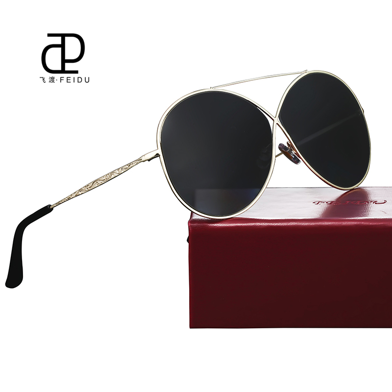 56de66b933 FEIDU New Fashion Women Sunglasses Brand Designer Metal Frame Coating Mirror  Sun Glasses Female Vintage Eyewear Ladies With Case-in Sunglasses from  Women s ...