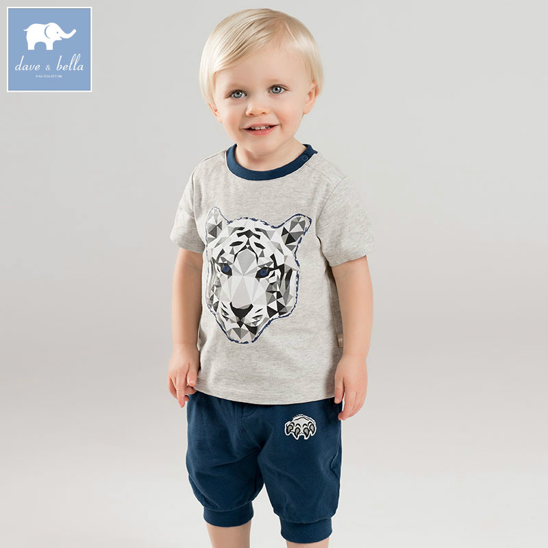 DBJ7272 dave bella summer baby boy's lion print clothing sets children infant toddler suit kid's high quality clothes dbm7642 dave bella summer newborn boys fashion costumes infant toddler jumpsuits children lion print clothes baby romper